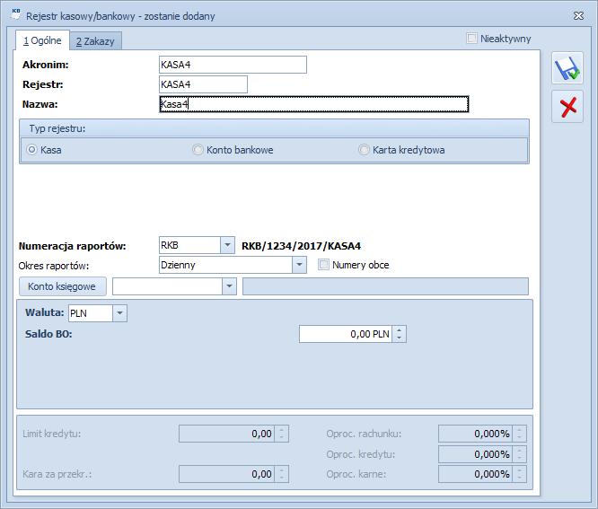 Jak dodać rejestr kasowo-bankowy do programu Comarch ERP Optima1