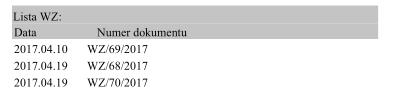 Jak ustawić drukowanie tabelę WZ na dokumentach faktur2