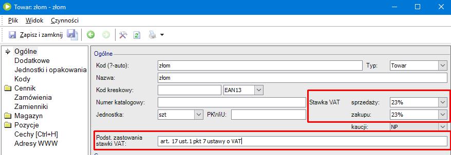 Jak w programie enova365 wystawić fakturę z odwrotnym obciążeniem1