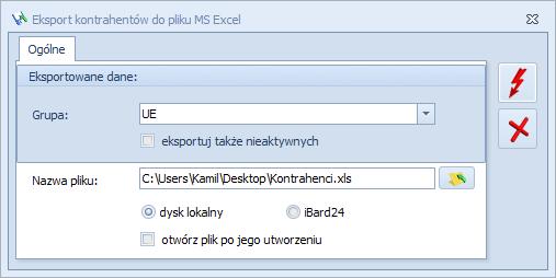 Jak wyeksportować  kontrahentów do pliku MS Excel z programu Optima1
