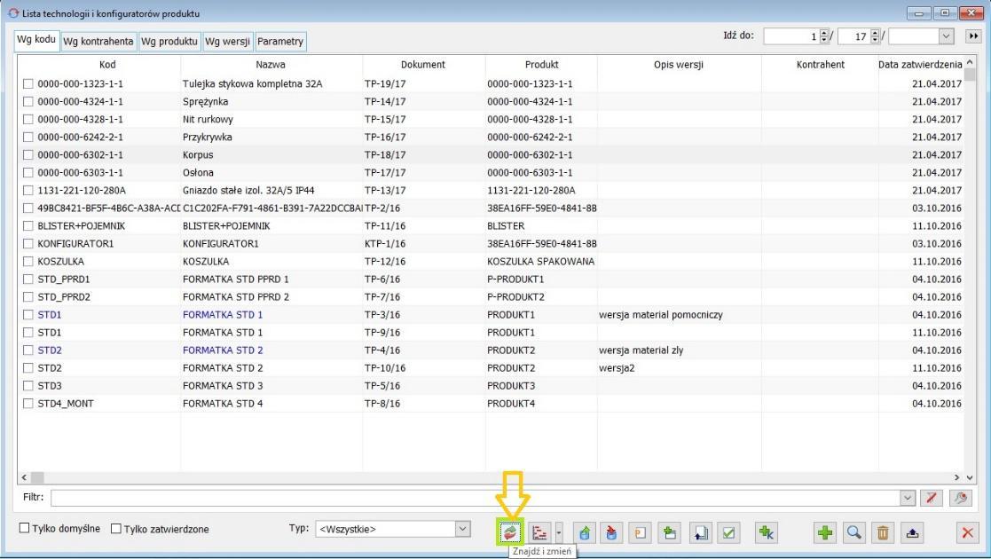 Jak masowo modyfikować technologie – podmieniać stosowane materiały w module Produkcja Comarch ERP XL1