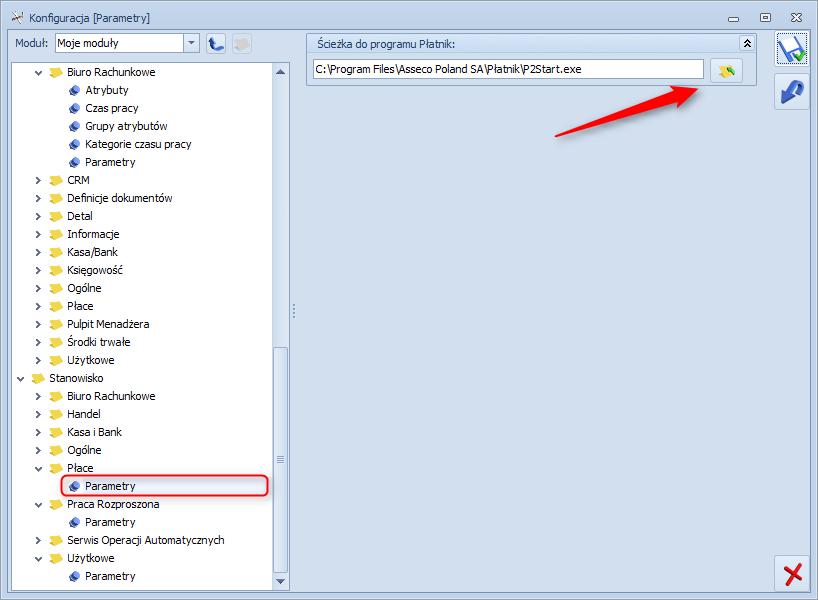 Jak ustawić ścieżkę do programu płatnik w systemie Comarch Optima1