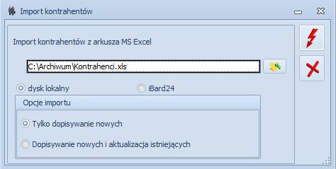 Jak zaimportować  kontrahentów z pliku MS Excel do programu Optima1