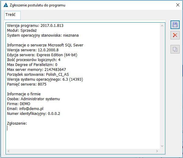 Jak uzyskać w Comarch ERP XL techniczne informacje niezbędne do zgłoszenia serwisowego do asysty producenta2